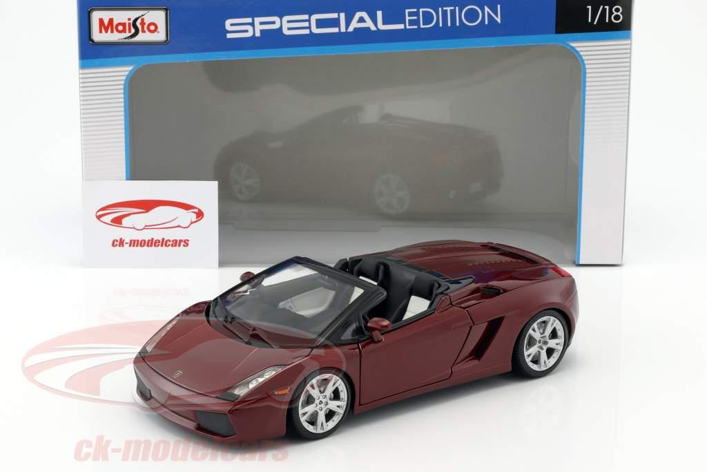 Maisto 1 18 Lamborghini Gallardo Spyder Dark Red 31136 Model Car