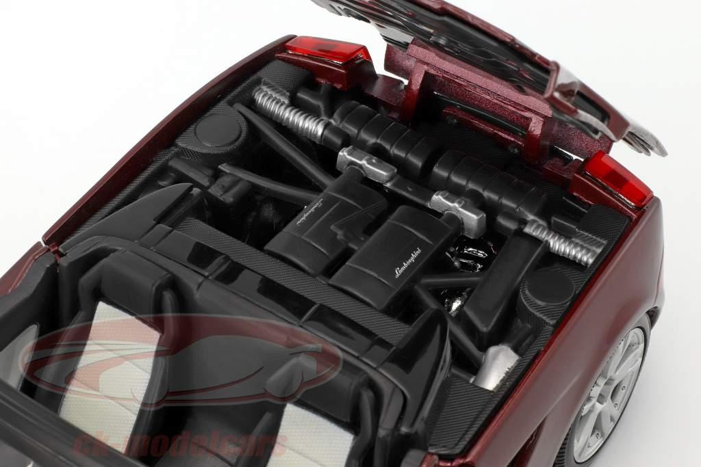 Lamborghini Gallardo Spyder sombre rouge 1:18 Maisto