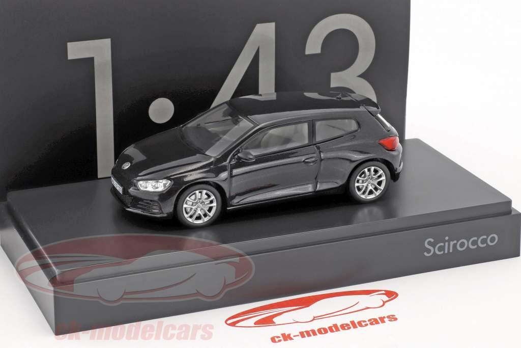 Volkswagen VW Scirocco black metallic 1:43 Norev
