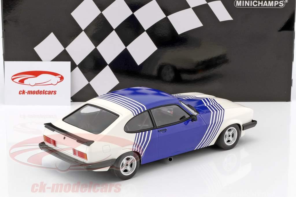 Ford Capri 3.0 Baujahr 1978 weiß / blau 1:18 Minichamps