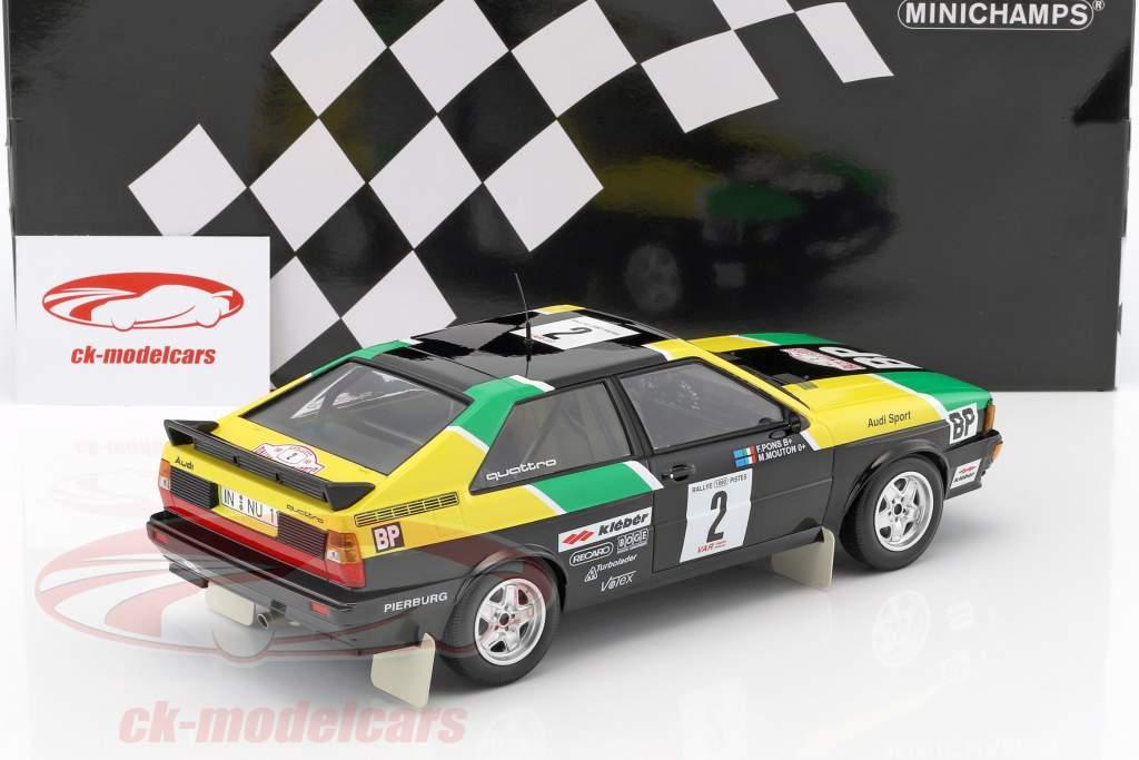 Audi Quattro #2 Rallye des 1000 Pistes 1981 Mouton / Pons 1:18 Minichamps