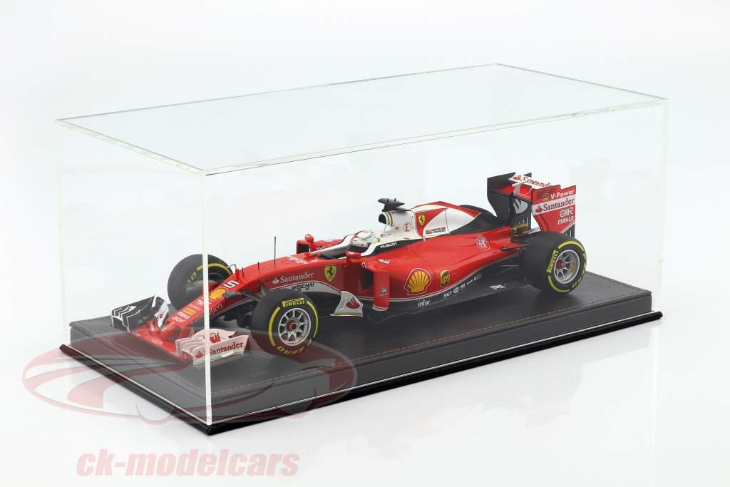 Alta qualità vetrina con piastra di base su di pelle per modello automobili in scala 1:18 nero SAFE