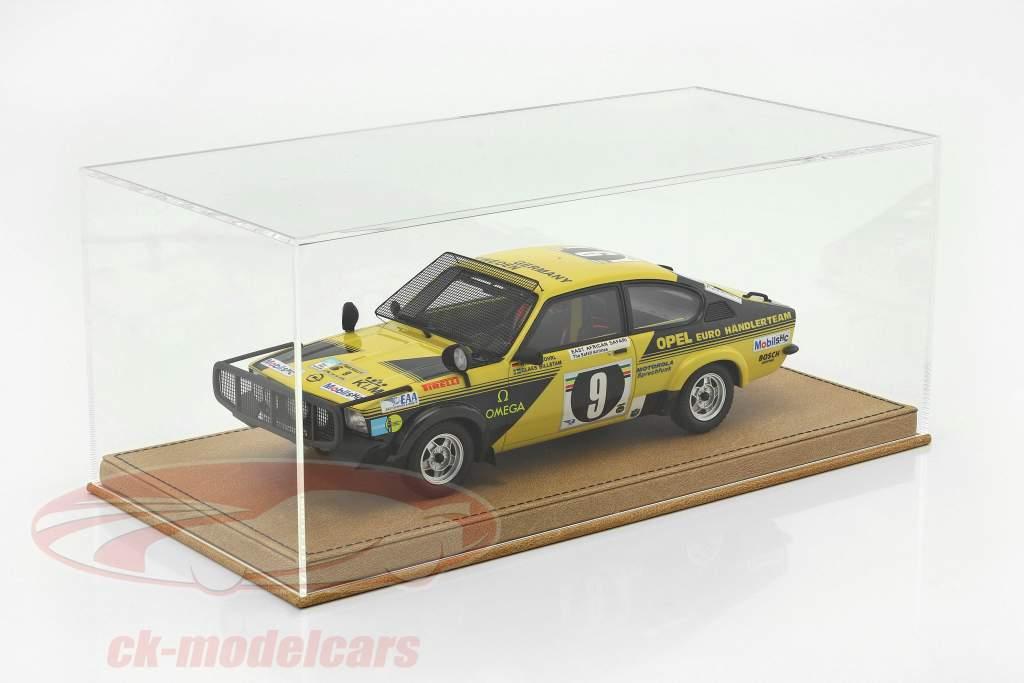 Hoge kwaliteit vitrine met basisplaat uit van leer voor model- auto's in schaal 1:18 beige SAFE