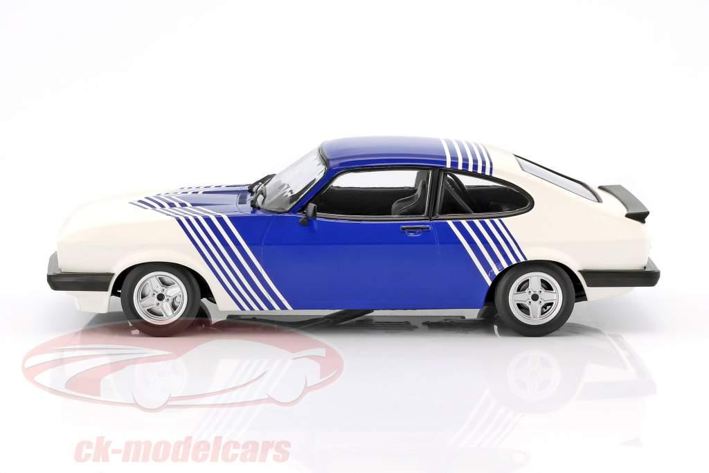Ford Capri 3.0 anno 1978 bianco / blu 1:18 Minichamps