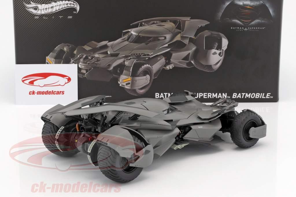 Batmobile filme Batman V Superman: Dawn Of Justice 2016 preto 1:18 HotWheels Elite