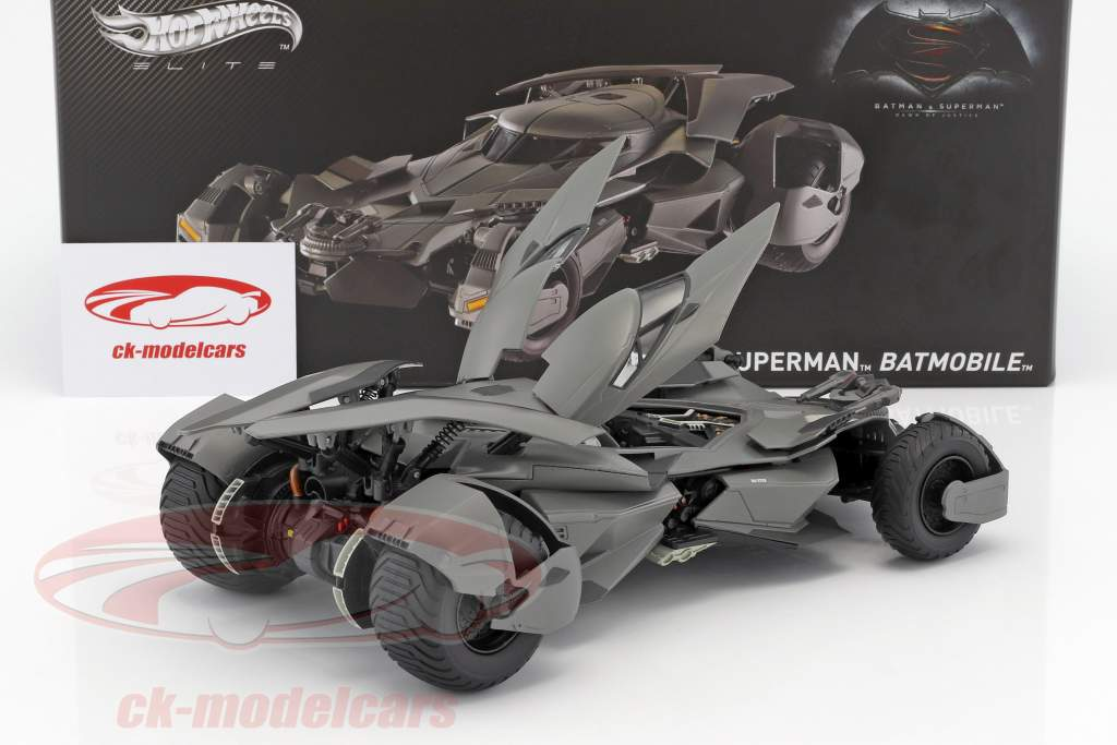 Batmobile Movie Batman V Superman: Dawn Of Justice 2016 black 1:18 HotWheels Elite
