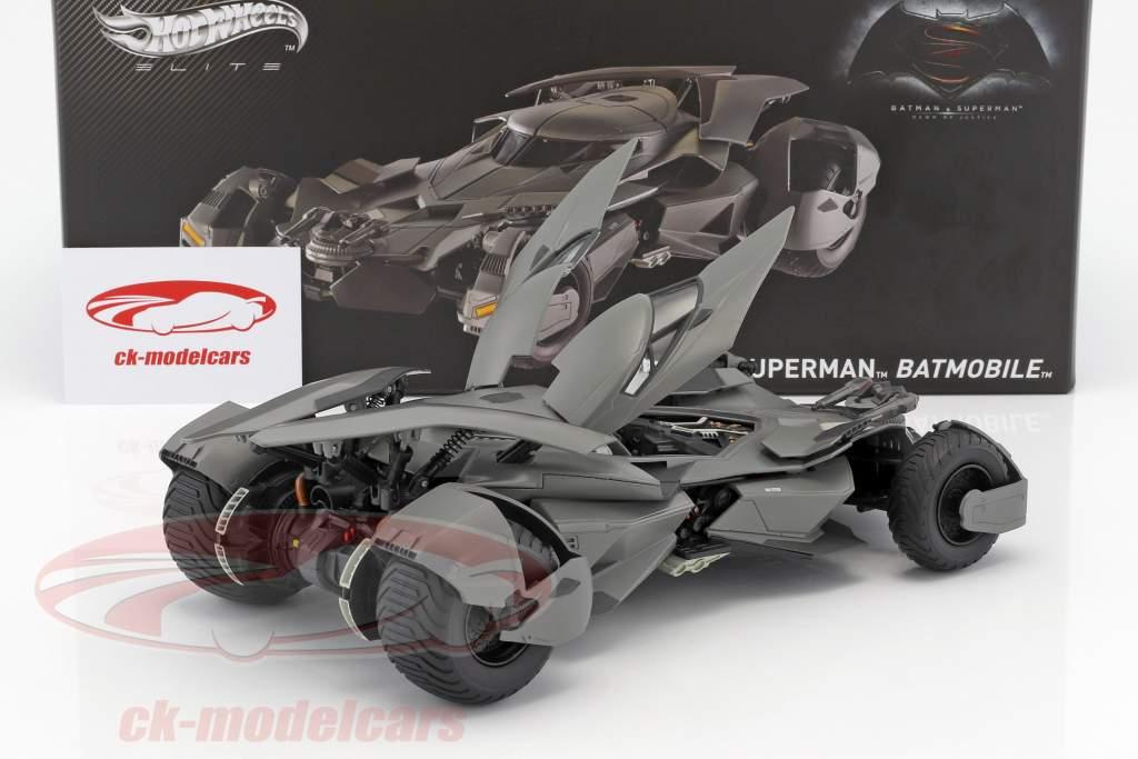Batmobile película Batman V Superman: Dawn Of Justice 2016 negro 1:18 HotWheels Elite