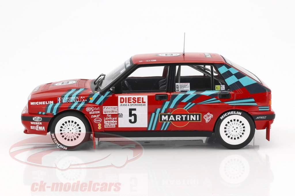 Lancia Delta HF Integrale 16V #5 Rallye San Remo 1989 Auriol, Occelli 1:18 Triple9