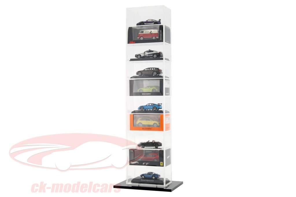 model bil tårn udstillingsvindue med bundplade til 10 modeller 1:43 SAFE
