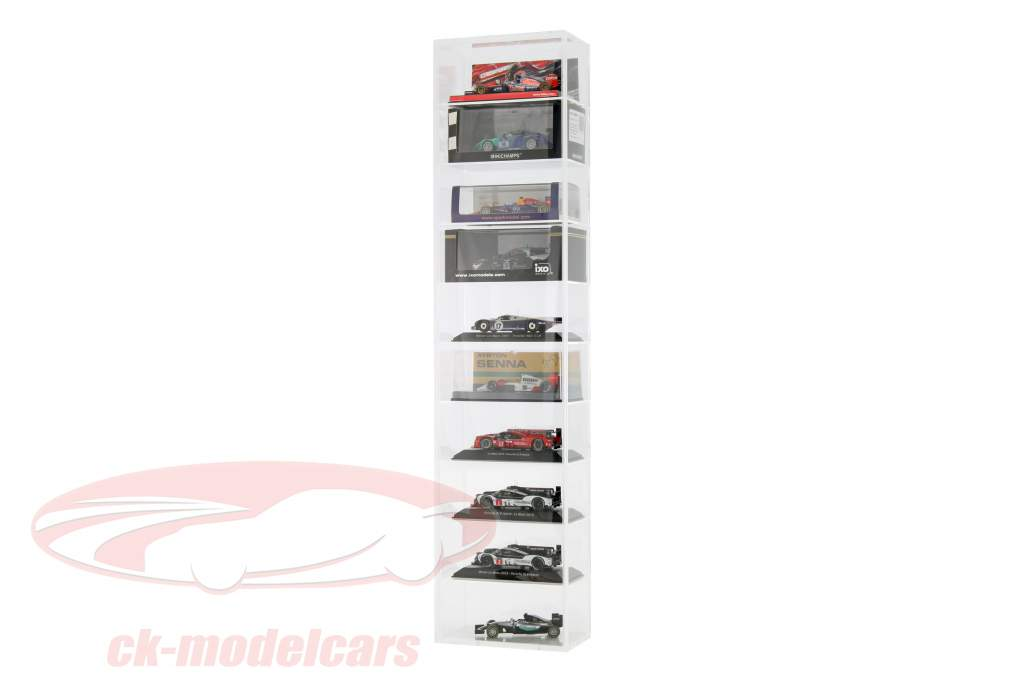 model car tower showcase wall mounting for 10 models 1:43 SAFE