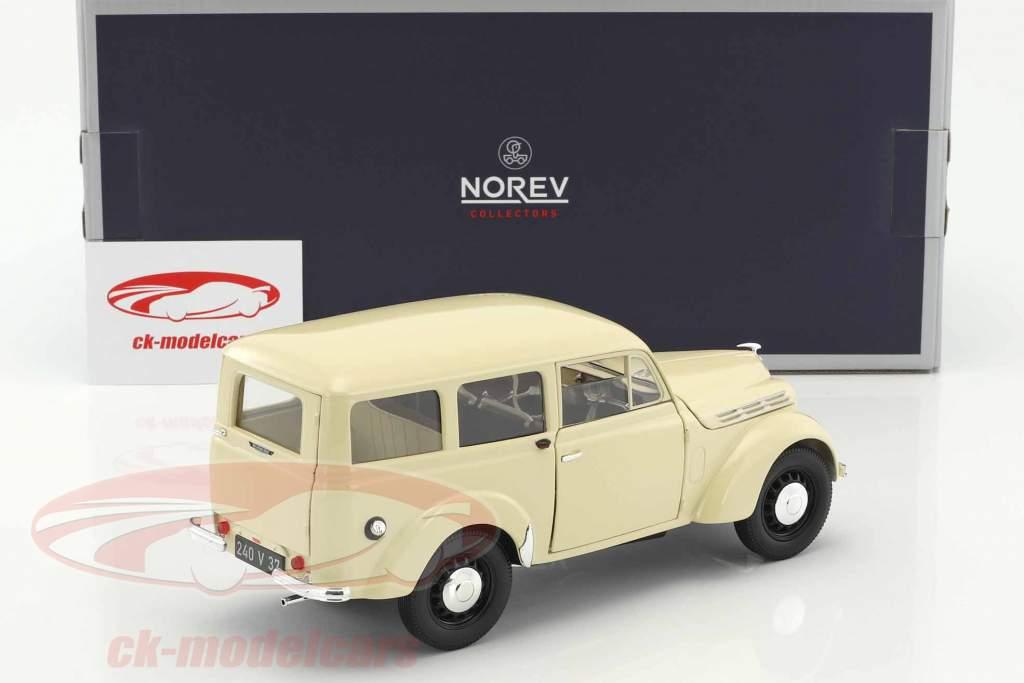 Renault Break 300 kg Juvaquatre año de construcción 1951 marfil 1:18 Norev