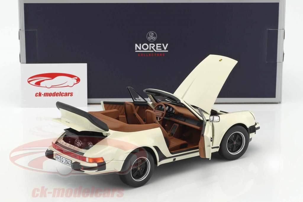 Porsche 911 Turbo Cabriolet year 1987 ivory 1:18 Norev