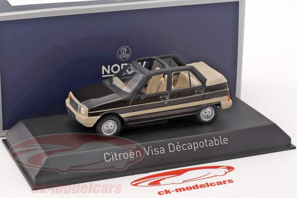 Citroen Visa Decapotable anno di costruzione 1984 marrone metallico / beige 1:43 Norev