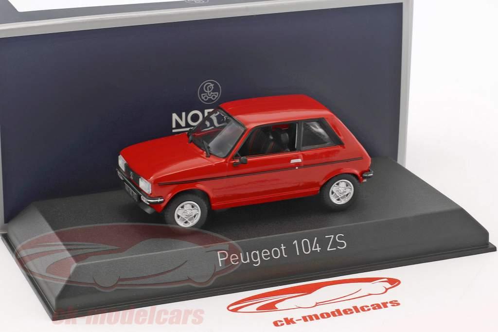 Peugeot 104 ZS année de construction 1979 persan rouge 1:43 Norev
