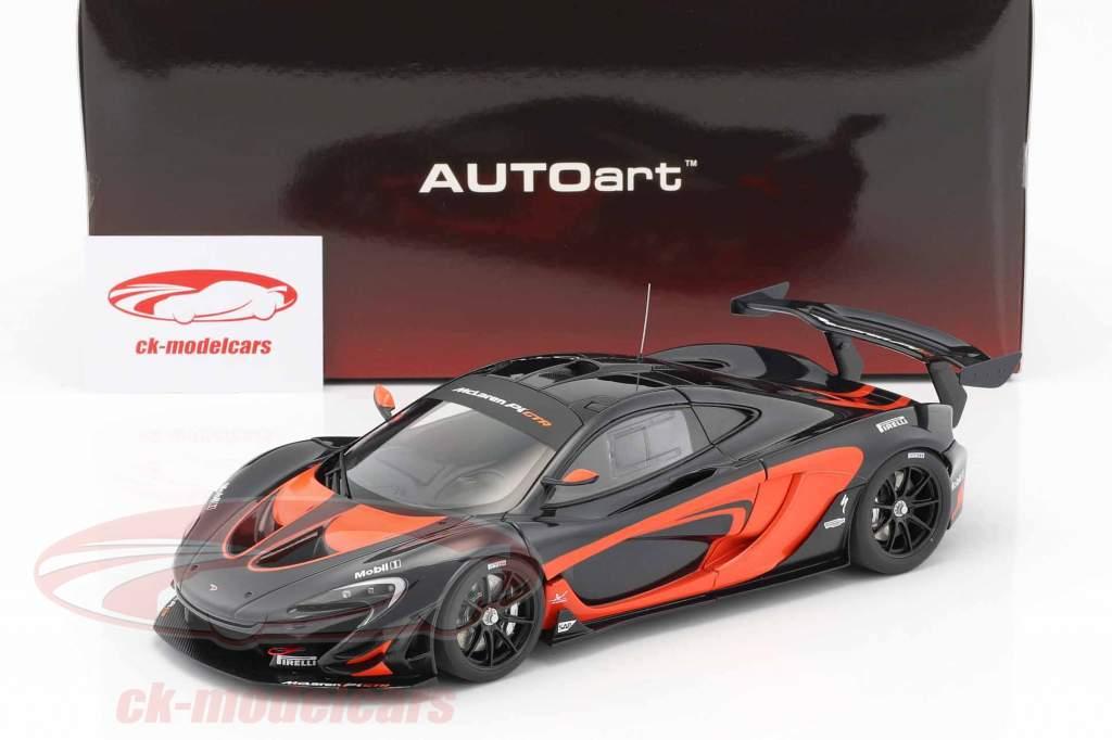 McLaren P1 GTR year 2015 black / orange 1:18 AUTOart