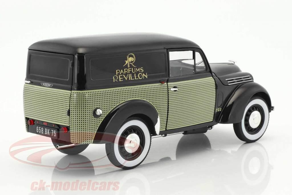 Renault 300 kg Juvaquatre Parfums Revillon Baujahr 1953 schwarz 1:18 Norev