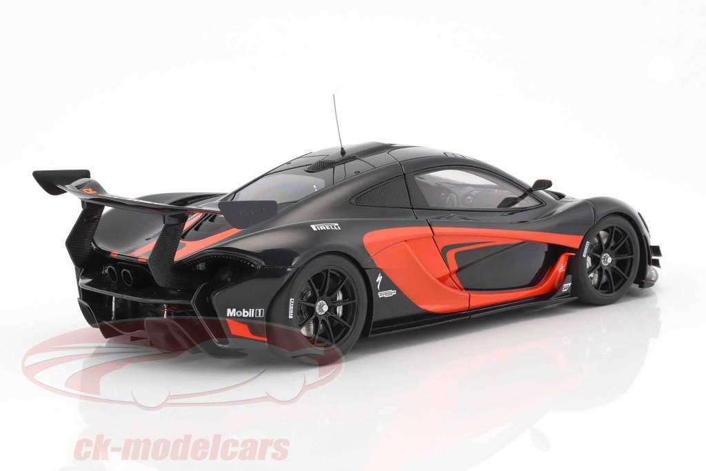 McLaren P1 GTR anno di costruzione 2015 nero / arancione 1:18 AUTOart