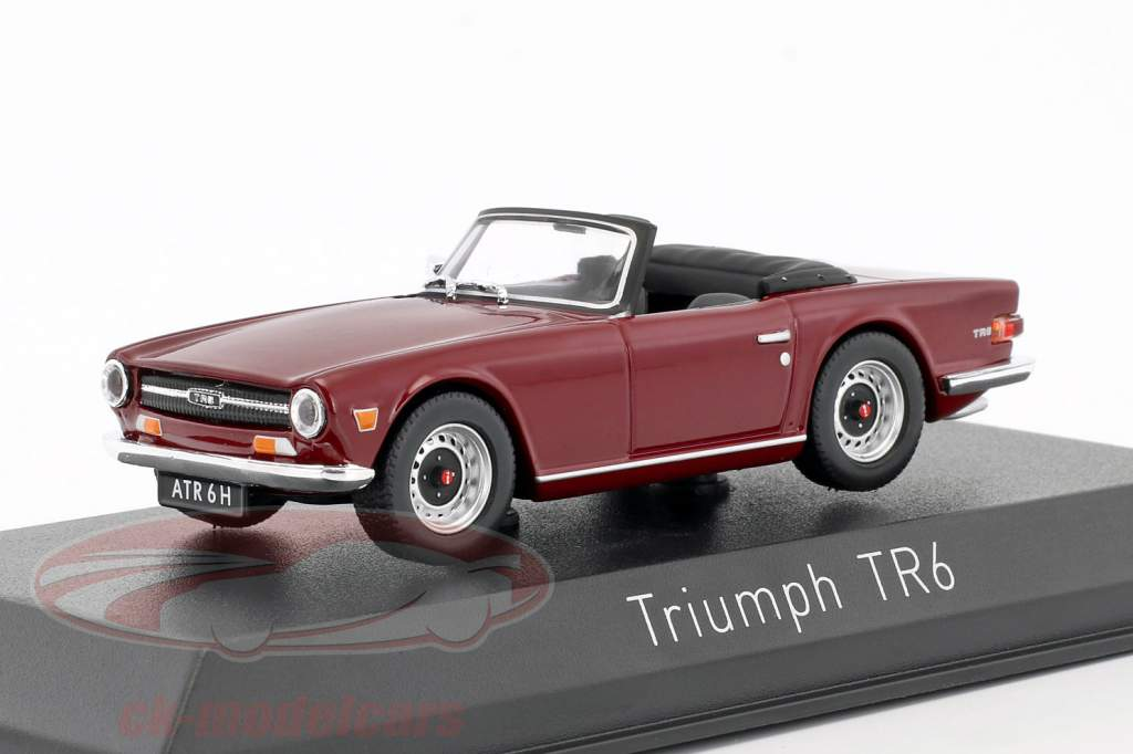Triumph TR6 year 1970 damson red 1:43 Norev