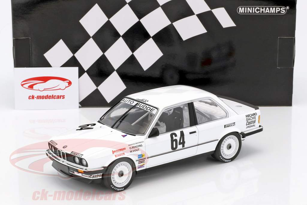 BMW 325i #64 vincitore 24h Nürburgring 1986 Oestreich, Rensing, Vogt 1:18 Minichamps