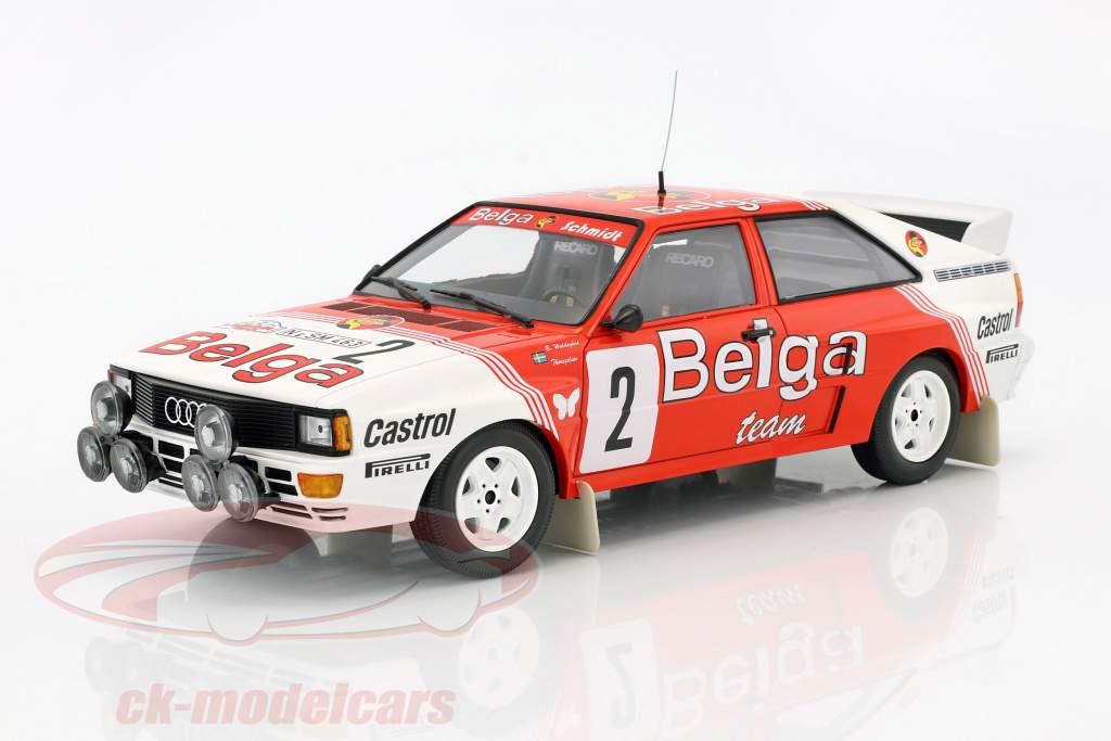 Audi Quattro A2 #2 Sieger Rallye Boucles de Spa 1985 Waldegaard, Thorszelius 1:18 Minichamps