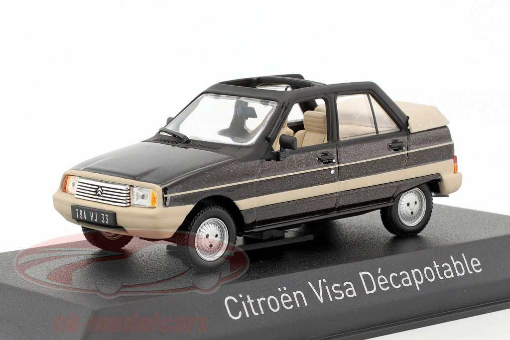 Citroen Visa Decapotable année de construction 1984 brun métallique / beige 1:43 Norev