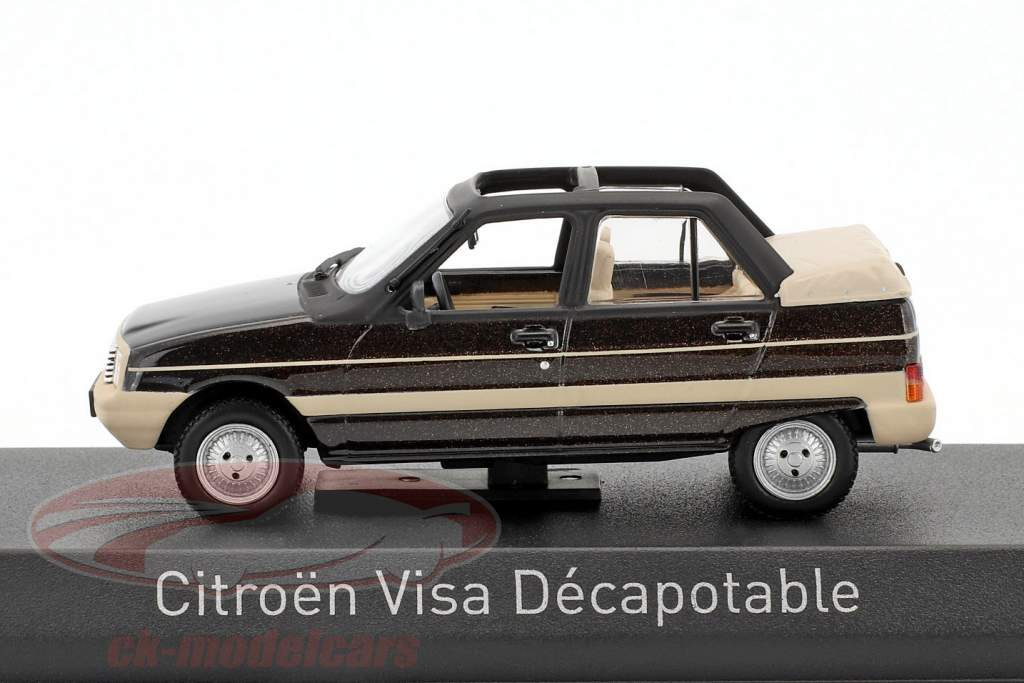 Citroen Visa Decapotable year 1984 brown metallic / beige 1:43 Norev
