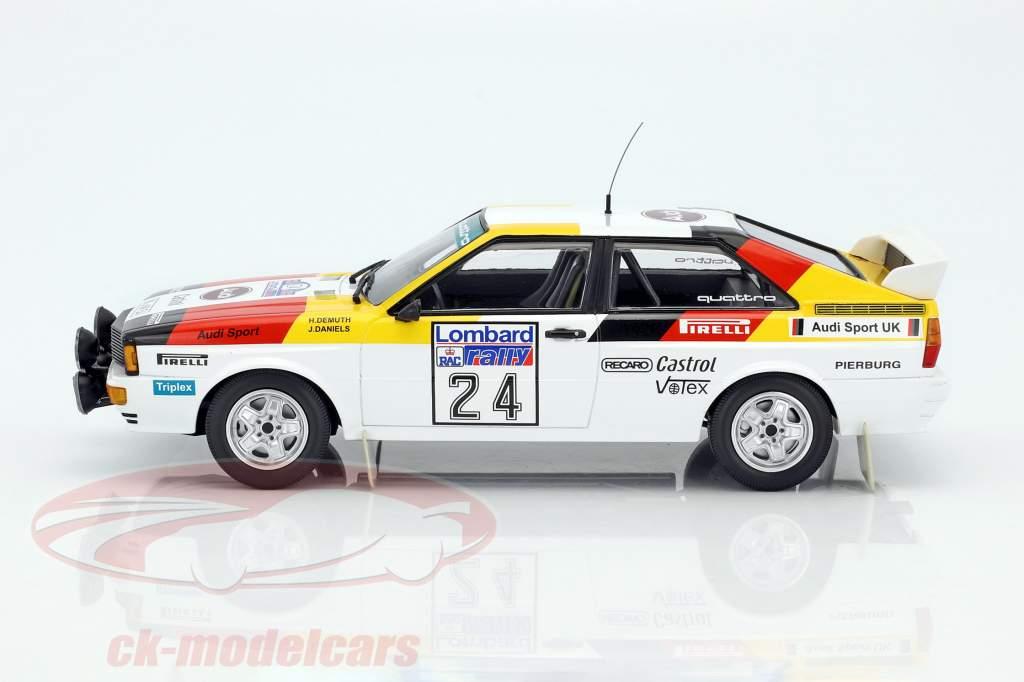 Audi Quattro #24 5 ° Lombard RAC Rallye 1982 Demuth, Daniels 1:18 Minichamps