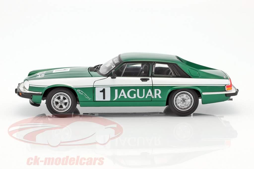 Jaguar XJS #1 grøn / hvid 1:18 Lucky DieCast
