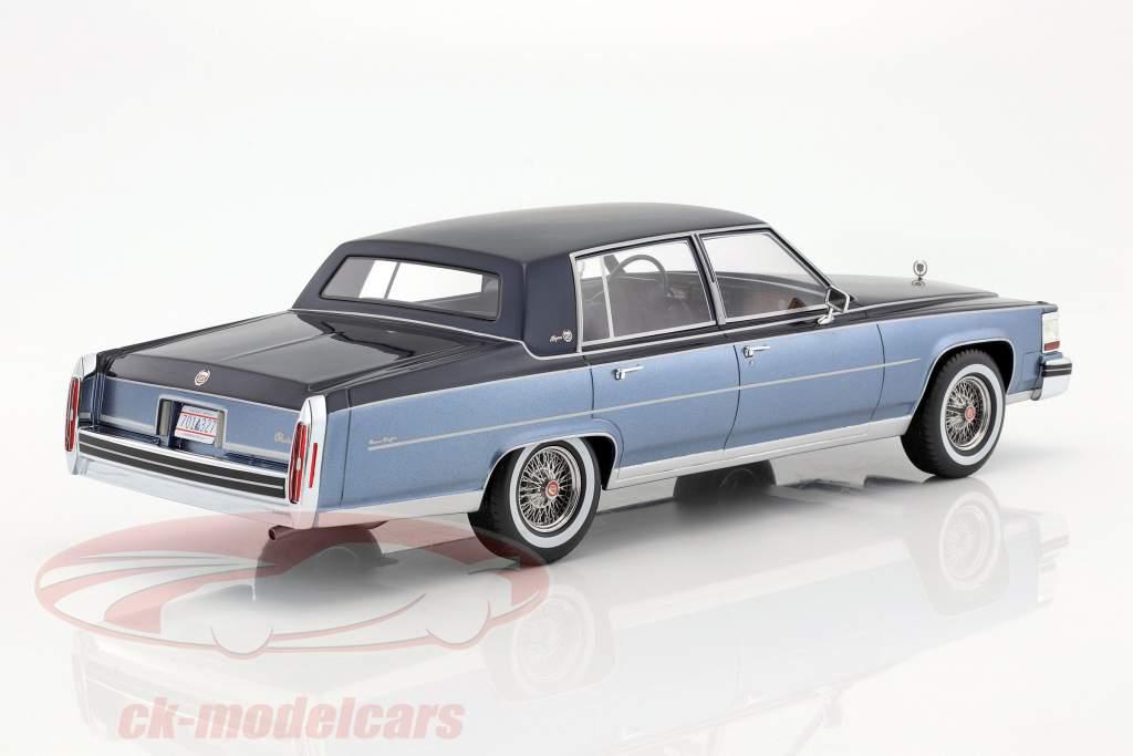 Cadillac Fleetwood Brougham anno di 1982 blu / azzurro 1:18 BoS-Models