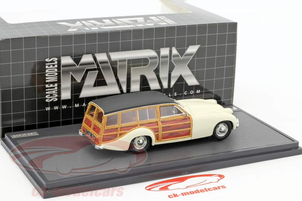 Allard P2 Safari Station Wagon year 1954 cream / black 1:43 Matrix