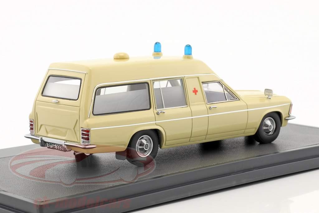 Opel Admiral B Miesen LWB Ambulance Baujahr 1970 beige 1:43 Matrix