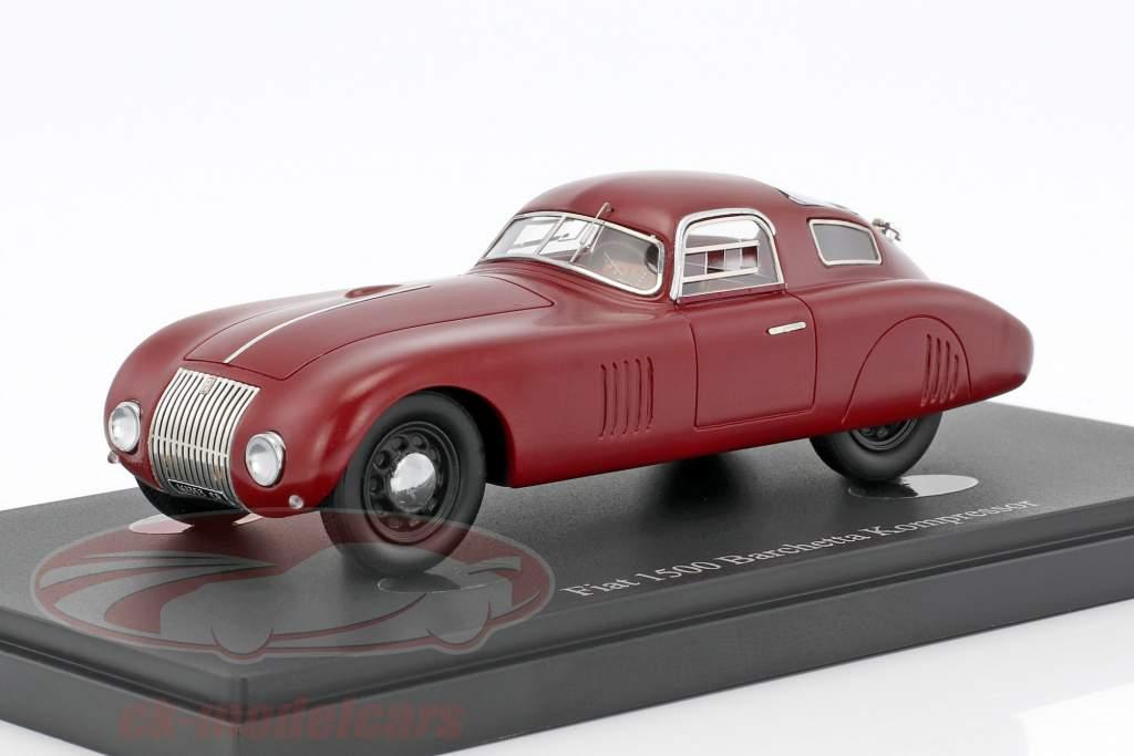 Fiat 1500 Barchetta Kompressor year 1943 red 1:43 AutoCult