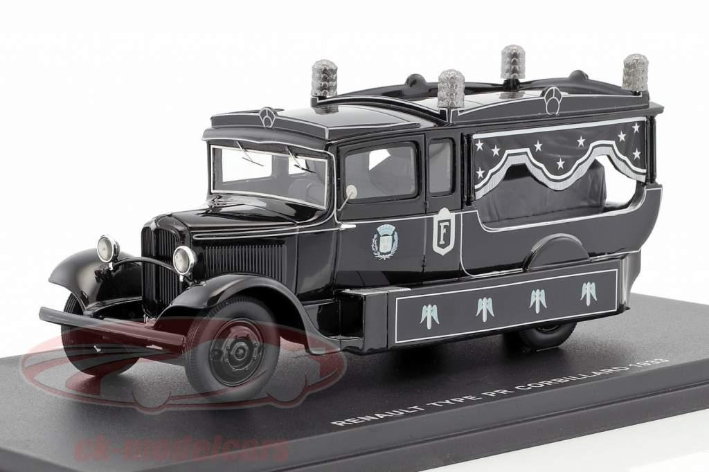 Renault Type PR Corbillard year 1933 black 1:43 Momaco
