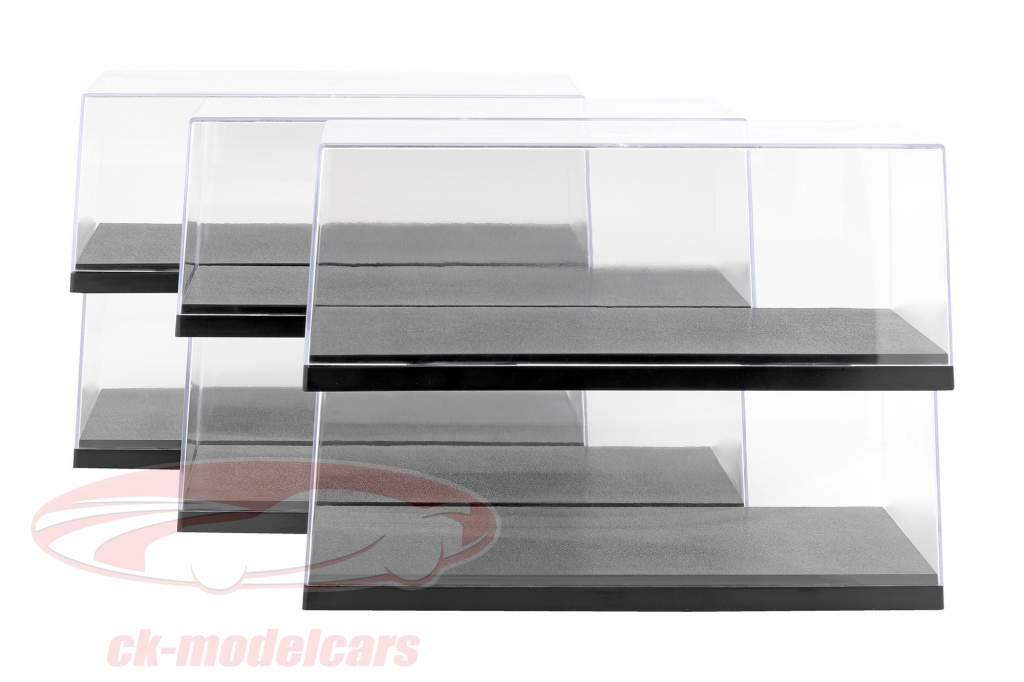 6er Cartão Triple9 Acrílico Vitrinas para Carros modelo no Escala 1:18