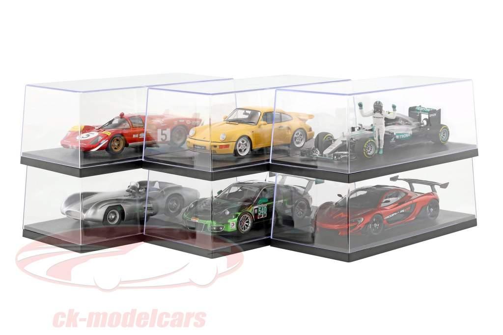 6er Caja de cartón Triple9 Acrílico Vitrinas para Modelos de coches en el Escala 1:18