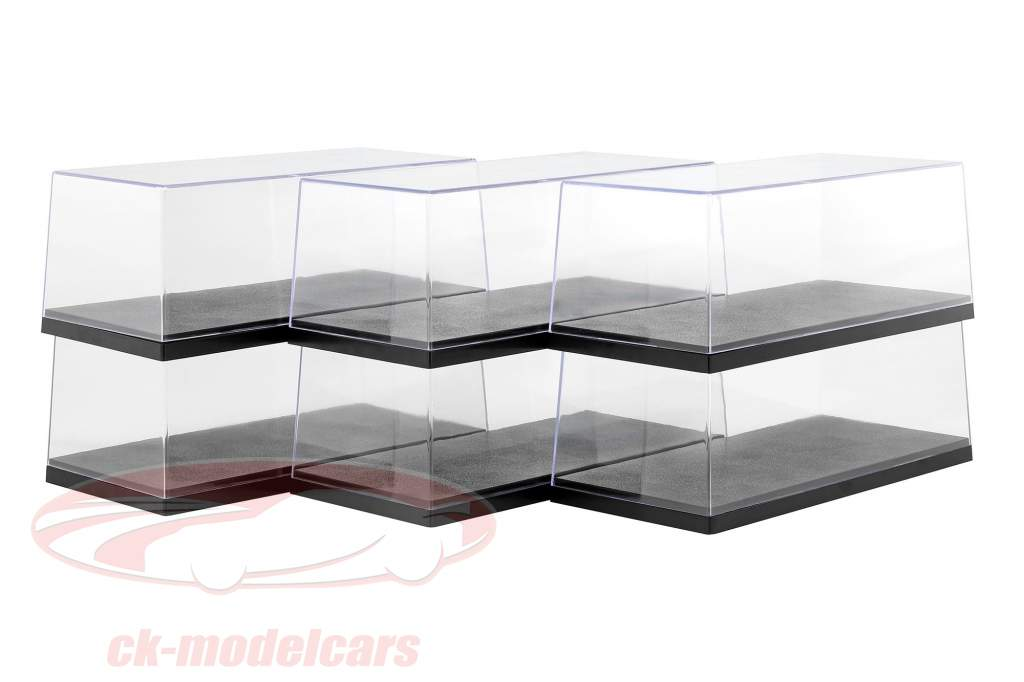 6er Carton Triple9 Akryl Showcases for Model biler i Scale 1:18