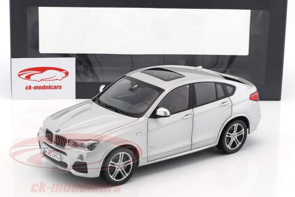 BMW X4 XDRIVE (F26) année de construction 2014 argent 1:18 Paragon Models