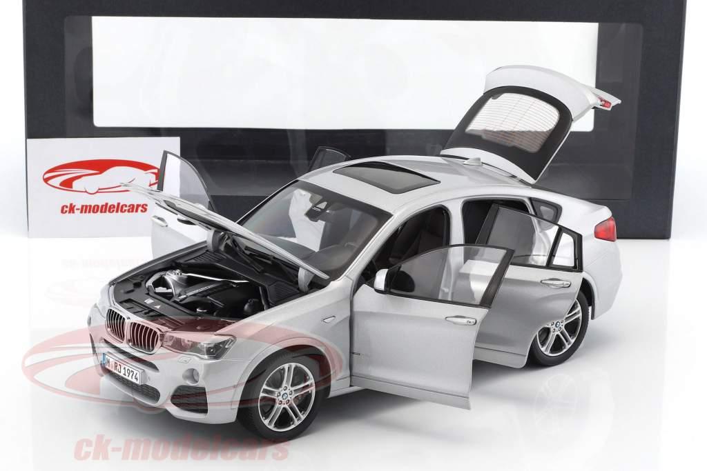BMW X4 XDRIVE (F26) Opførselsår 2014 sølv 1:18 Paragon Models