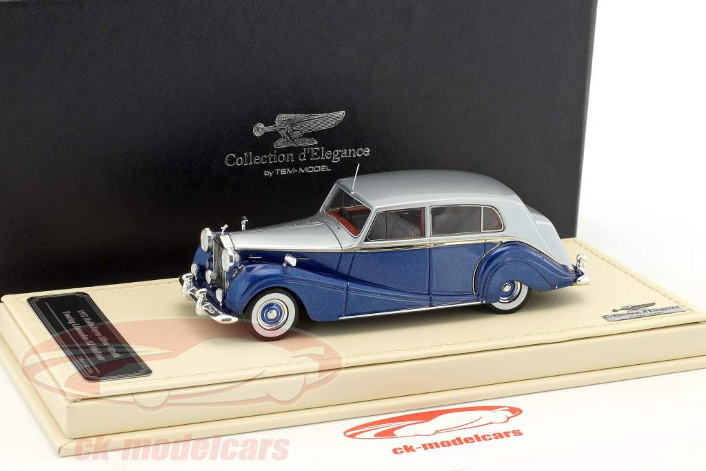 Rolls-Royce Silver Wraith Touring Limousine HJ Mulliner blue / silver 1:43 TrueScale