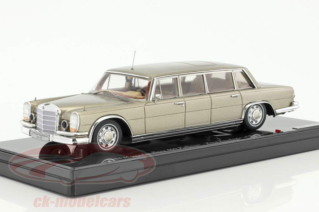 Mercedes-Benz 600 Pullmann Construction year 1964 King Baudouin of belgium 1:43 TrueScale