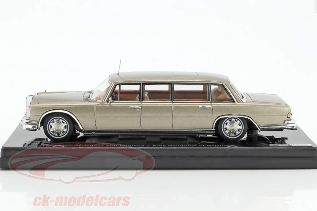 Mercedes-Benz 600 Pullmann anno di costruzione 1964 re Baudouin di Belgio 1:43 TrueScale
