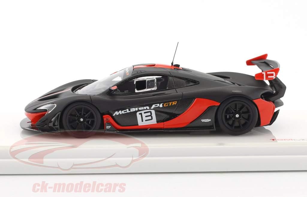 McLaren P1 GTR #13 grigio scuro / arancione 1:43 TrueScale