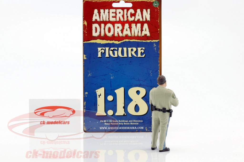 Police Series Highway Patrol cifra I Writing Ticket 1:18 American Diorama