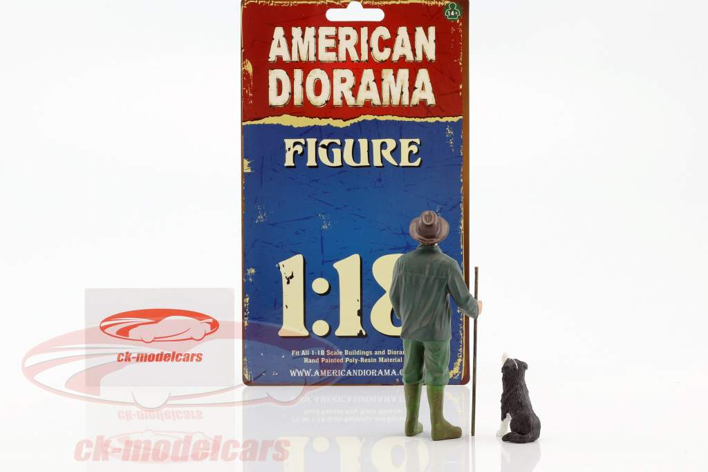 cliente Patrick & cão 1:18 American Diorama