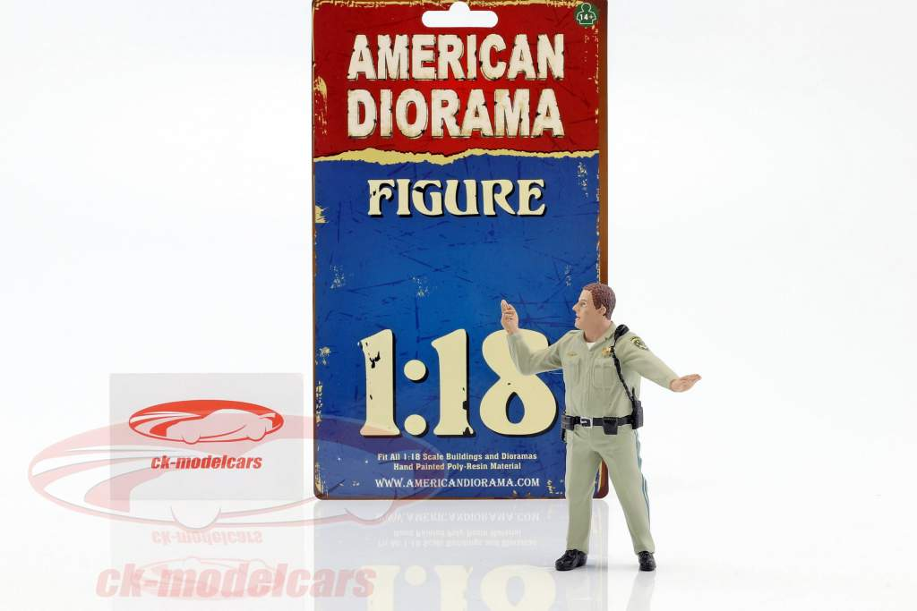 Police Highway Patrol cifra III Directing Traffic 1:18 American Diorama