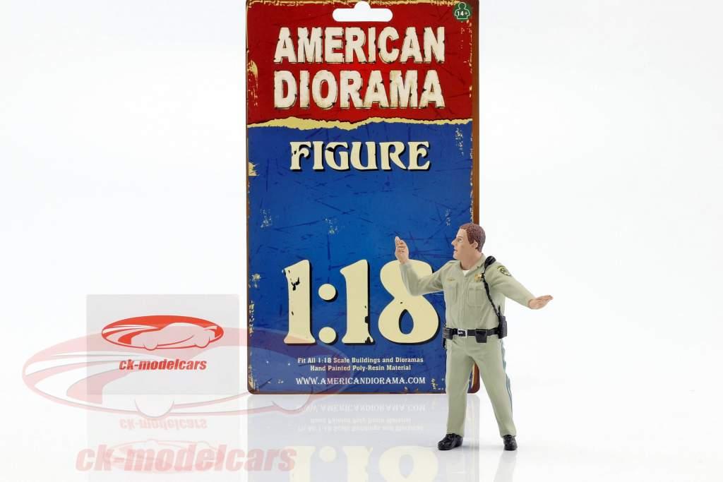 Police Highway Patrol Figur III Directing Traffic 1:18 American Diorama
