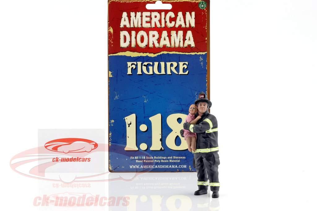 bombero figura II Saving Life 1:18 American Diorama