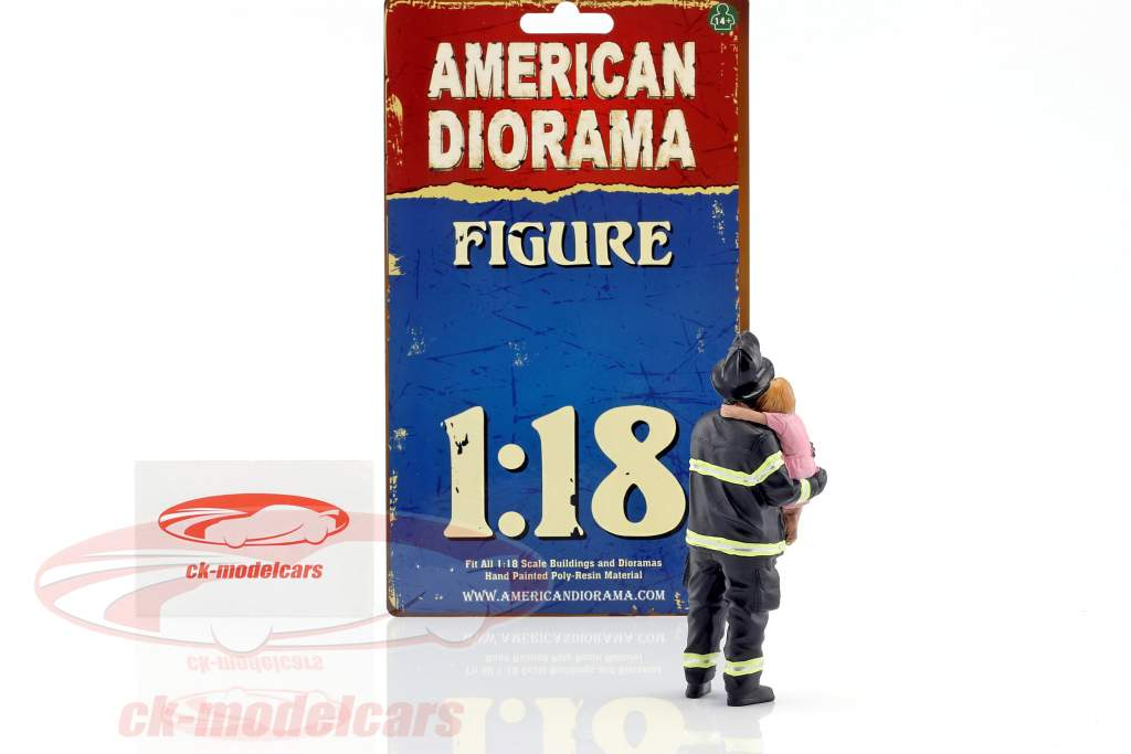pompiere cifra II Saving Life 1:18 American Diorama