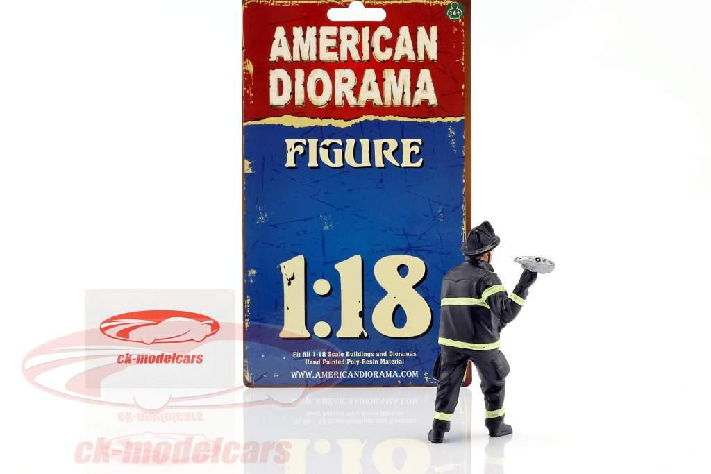 brandmand figur III Holding Axe 1:18 amerikansk Diorama