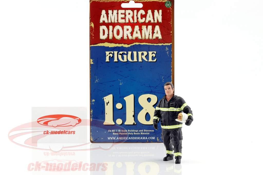 firefighter figure I Fire Chief 1:18 American Diorama
